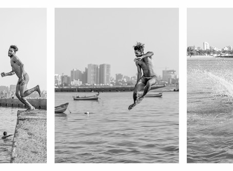 Three Triptychs From Juhu Jetty, Mumbai
