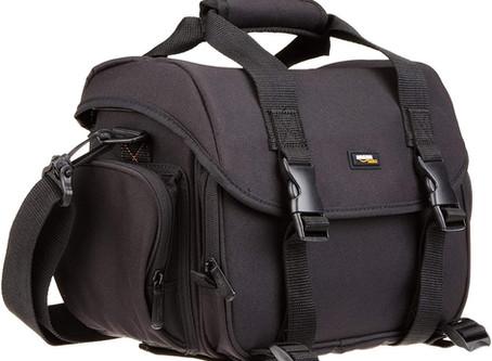 Review Of The AmazonBasics Large DSLR Gadget Bag (Orange interior)