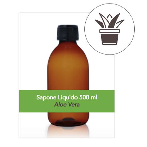 Sapone Liquido 500ml all'Olio d'Oliva con estratto d'Aloe Vera