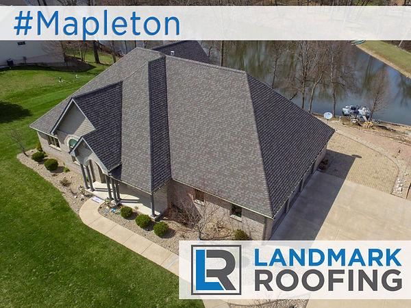 Landmark Roofing Mapleton IL Geo Hashtag