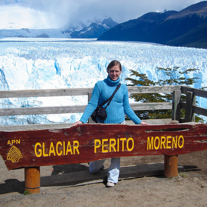 Viejo cartel del Glaciar Perito More