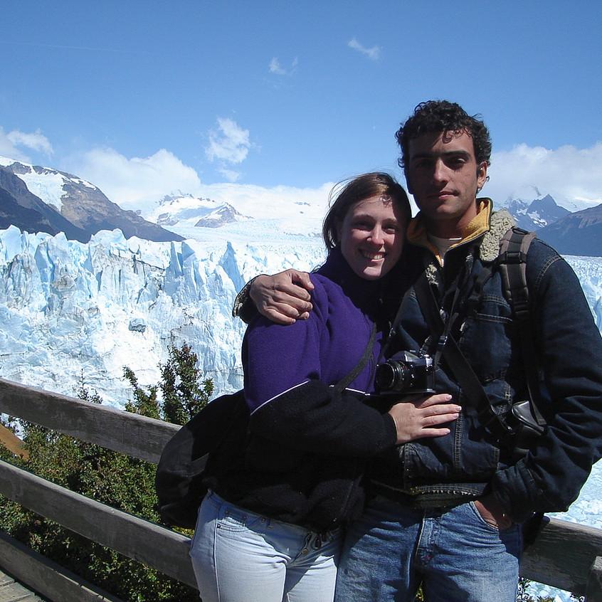 Primera foto: Agus, El Glaciar y yo