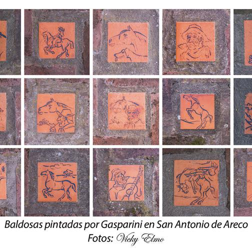 Baldosas pintadas por Gasparini