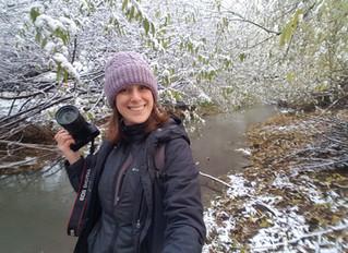 Llegó la primera nieve a El Calafate!