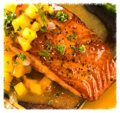 Jamaican Jerk Salmon Steaks
