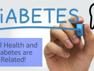 Are there any dental problems associated with diabetes?
