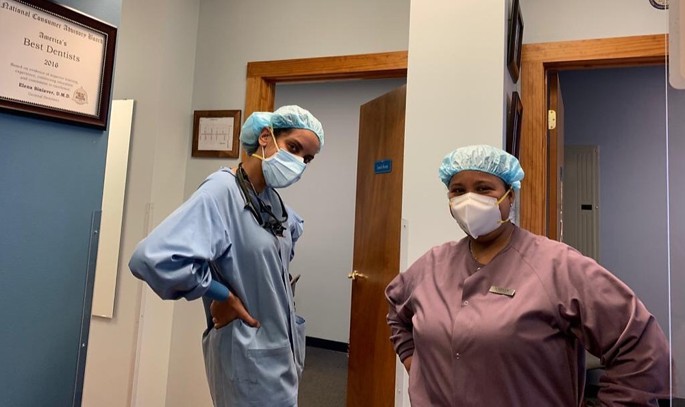 Hygienist Gabriela and Dental Assistant Nataly