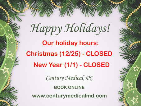 Holidays Office Hours