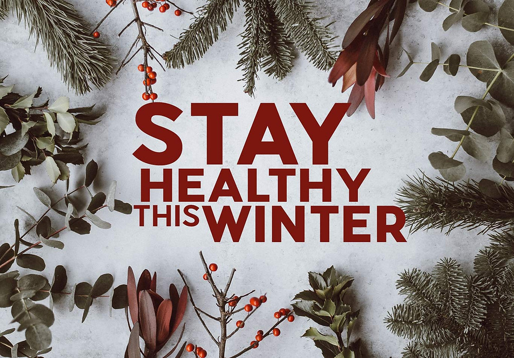 stay healthy this winter, snow elm branches