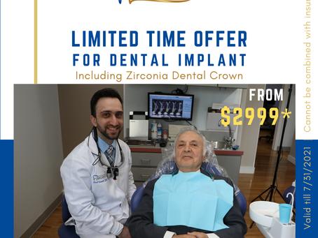 Dental Implant Special Offer From $2999 Including Dental Crown