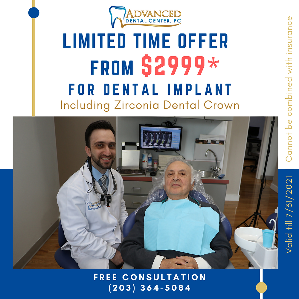 dentist is consulting senior patient in dental office