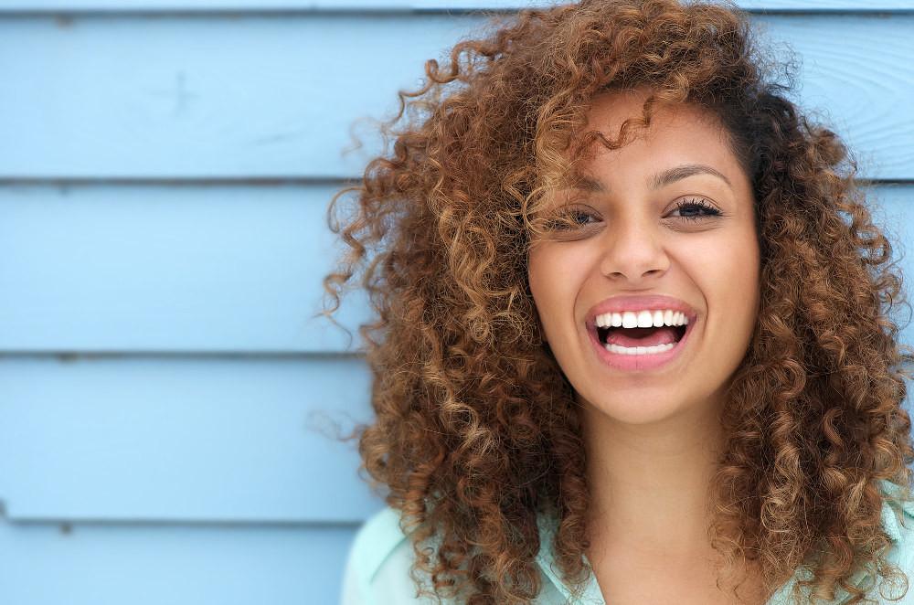 white confident smile