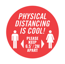 Physical Distancing Decal