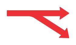 right traffic arrows
