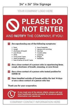 Covid Site Warning
