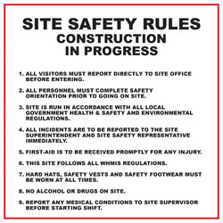 Site Safety Rules