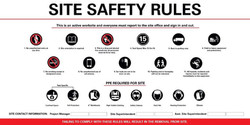 4' x 8' Large Site Safety Fence Sign