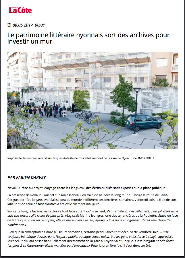 La Côte 08-05-2017, page 1