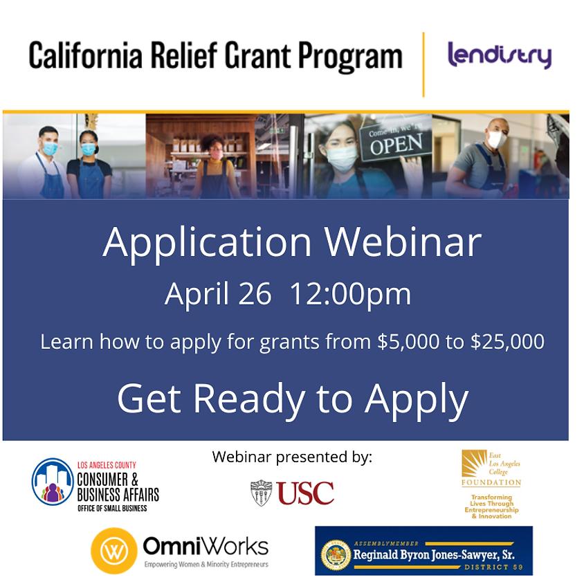 California Relief Grant Webinar (April 26)