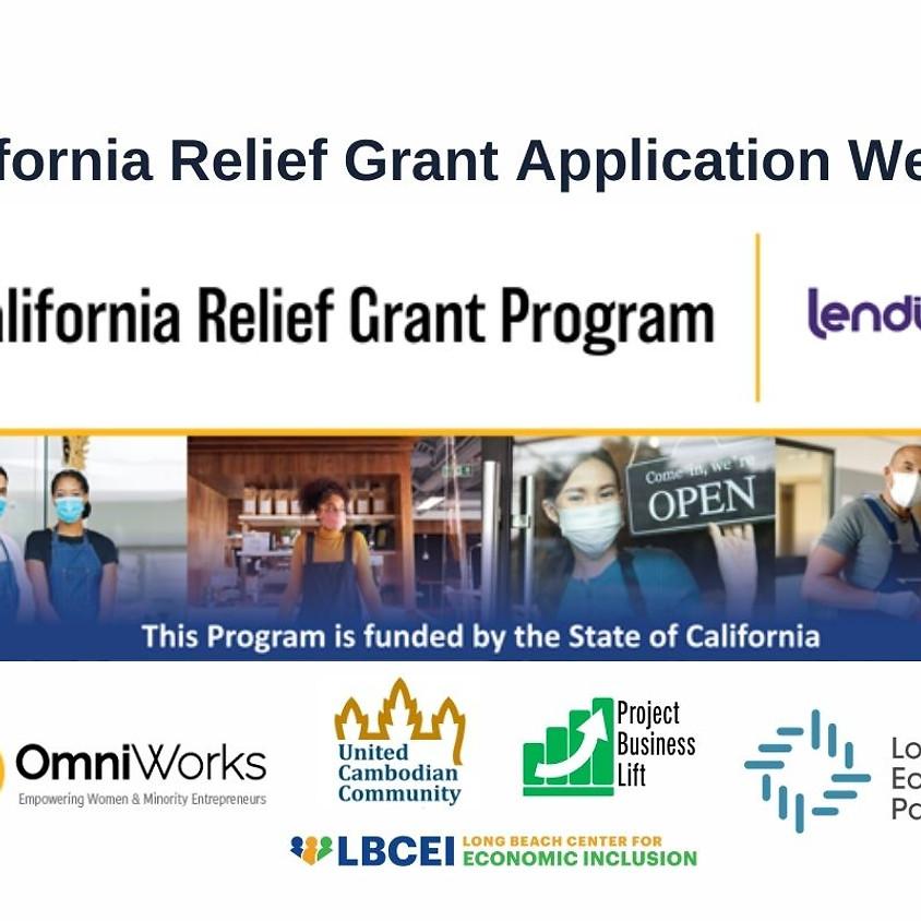 California Relief Grant Webinar (March 27)