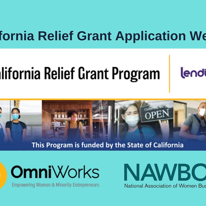 California Relief Grant Webinar (March 25)