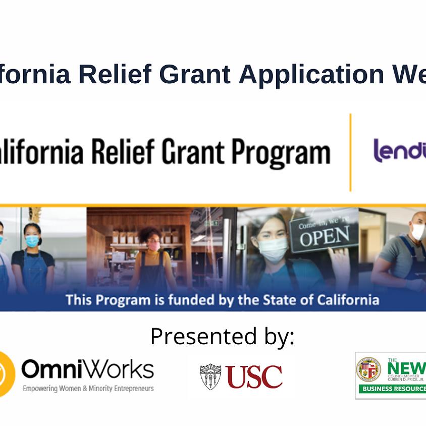 California Relief Grant Webinar (March 24)