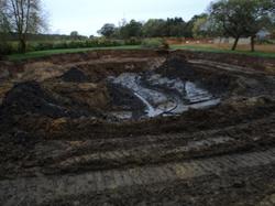 Wild life pond construction
