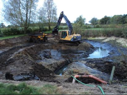 Dredging a wildlife pond