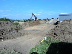 Construction of a slurry lagoon