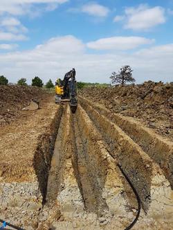 Installation ground source heating