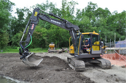 Volvo ECR145EL excavator fitted with