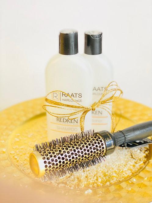 Shampoo, conditioner & brushborstel