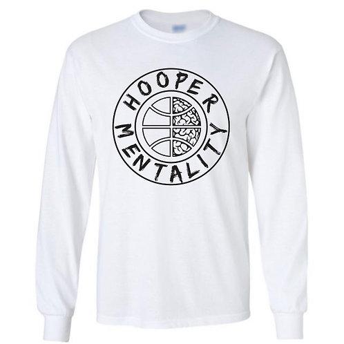 HOOPER MENTALITY Long Sleeve T-Shirt - White