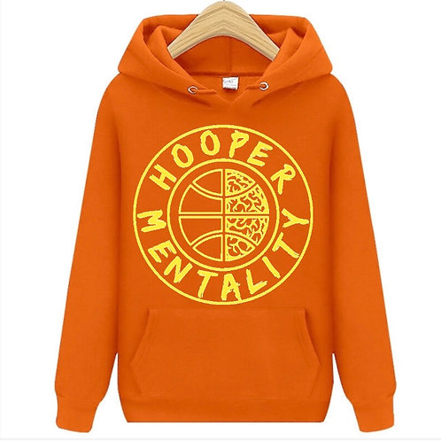 HOOPER MENTALITY HOODIE - Orange/Gold