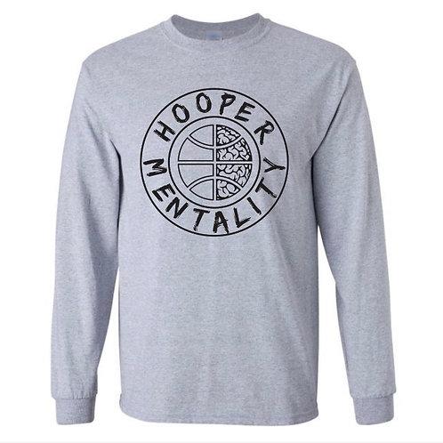 HOOPER MENTALITY Long Sleeve T-Shirt - Sport Grey