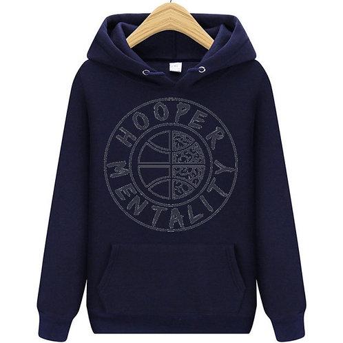 HOOPER MENTALITY HOODIE - Navy Blue/Grey