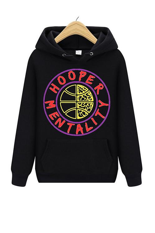 HOOPER MENTALITY Hoodie - Tri-Color Purple