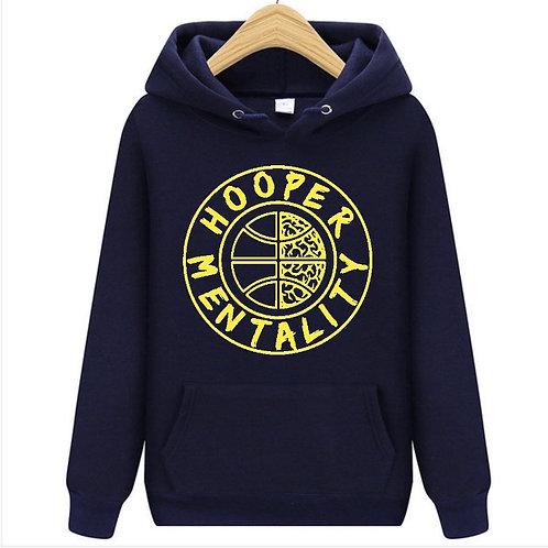 HOOPER MENTALITY HOODIE - Navy Blue/Gold