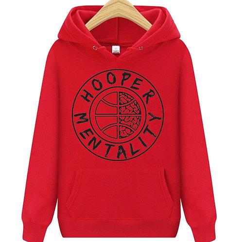 HOOPER MENTALITY Hoodie - Red/Black