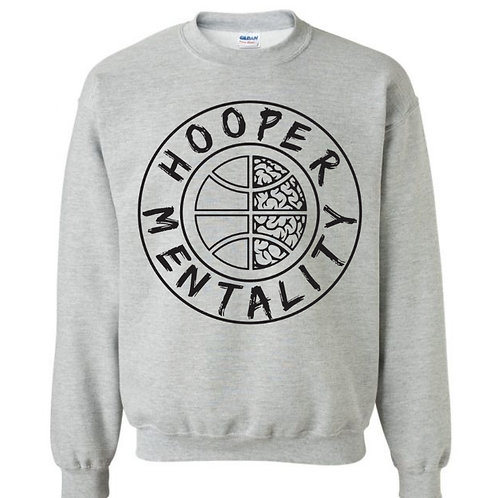 HOOPER MENTALITY CREW NECK - Sport Grey/Black
