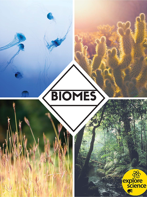 Biome Bundle: Grasslands,Oceans, Deserts & Jungles (Pre-K and K, NGSS & CC)