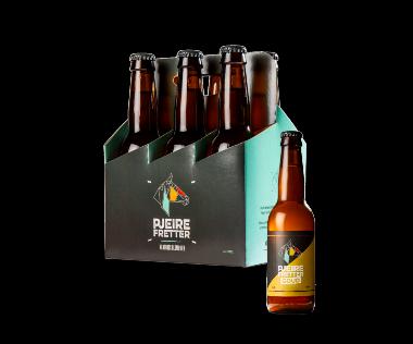 6-pack  Pjeirefretter Goud