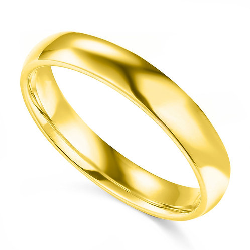 14k Yellow Gold 4-mm Comfort-fit Polished Wedding Band