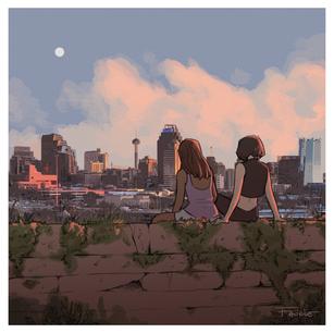 San Antonio Skyline (Pyrom)