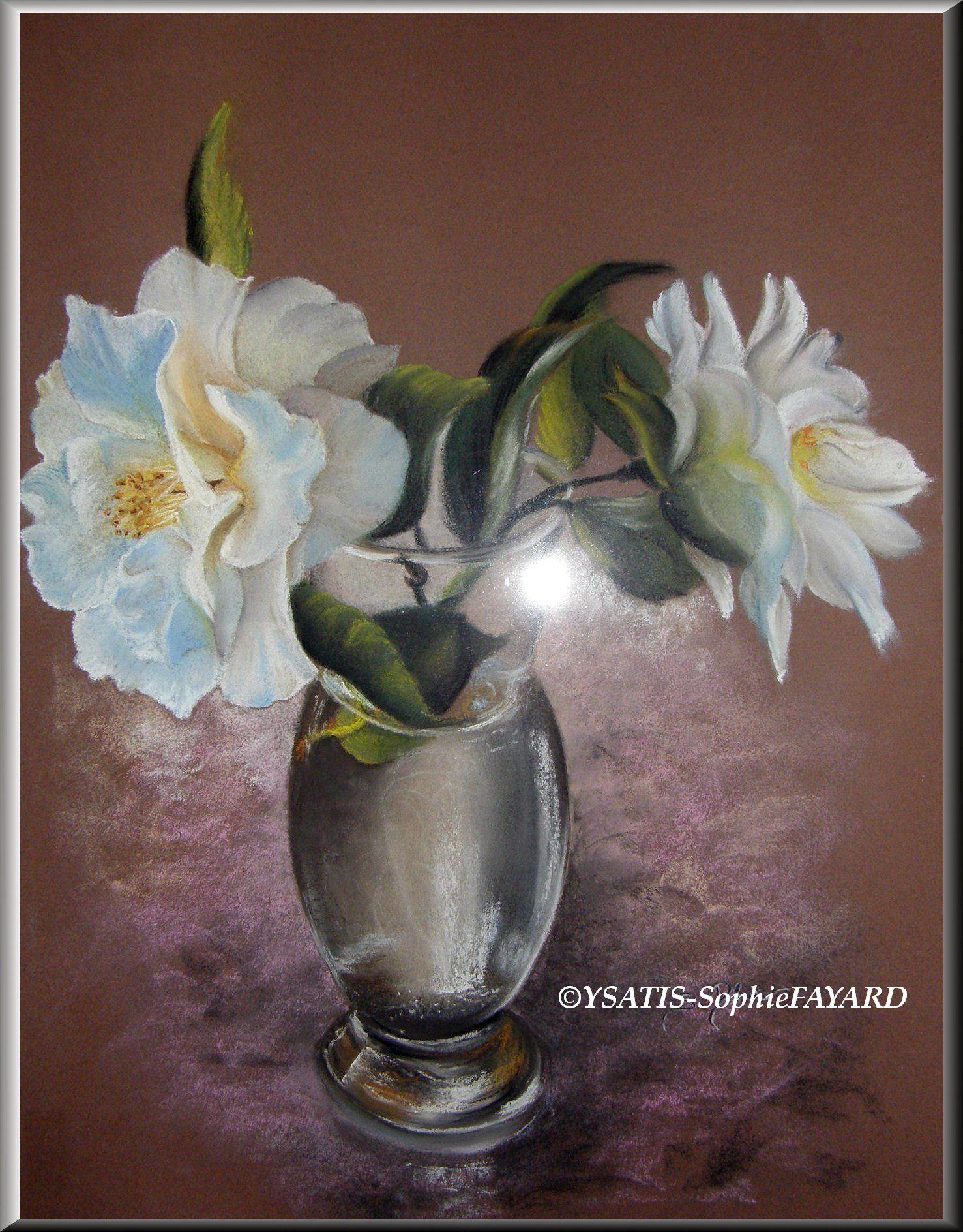 Sous le verre, la Fleur éphémère