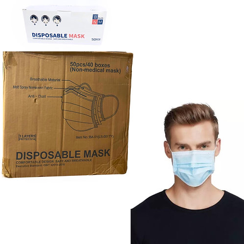 2000 pcs Disposable face mask