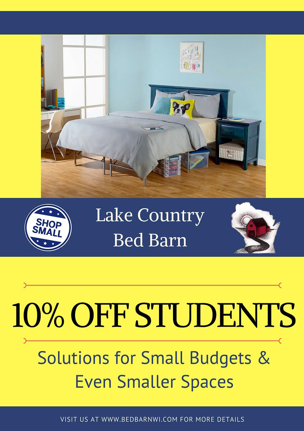 Student Mattress Poster