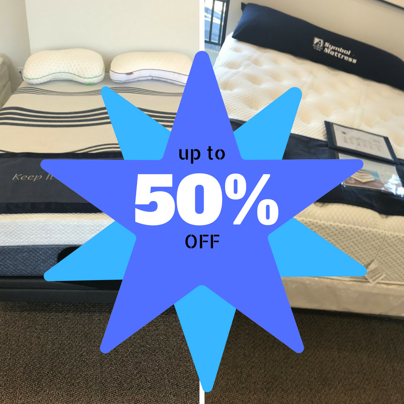 Displays 50% off