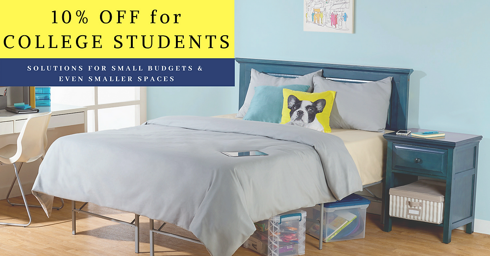 10% Off for college students banner