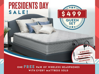 #President'sDaySale | Free Bluetooth Headset | $499 Queen